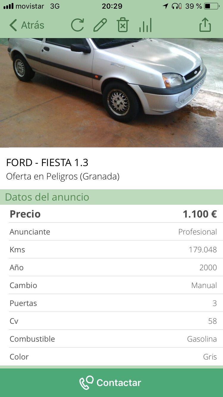 Ford Fiesta 1.3: Compra y venta de Autos CSD Granada