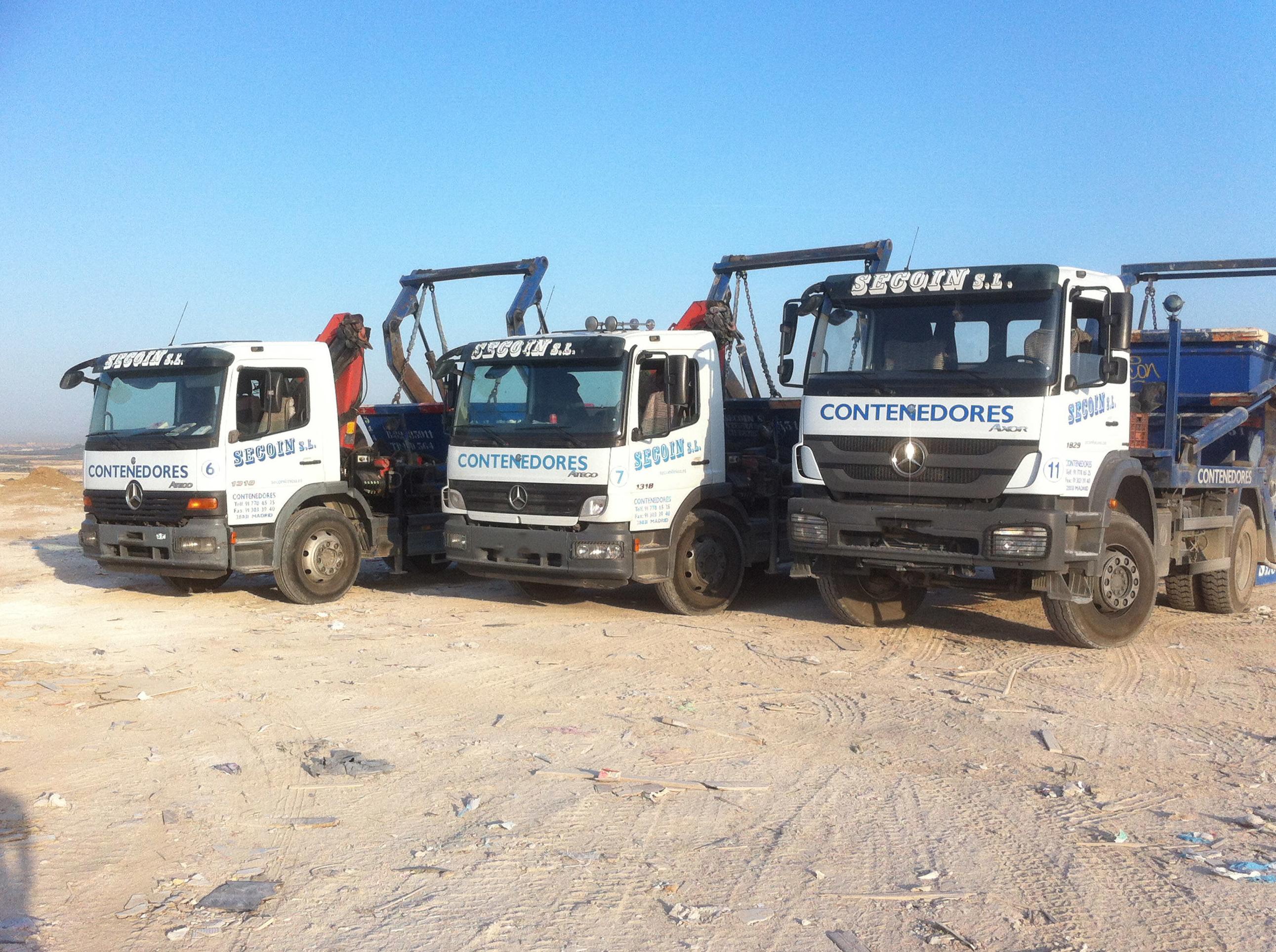 Flota de camiones de la empresa