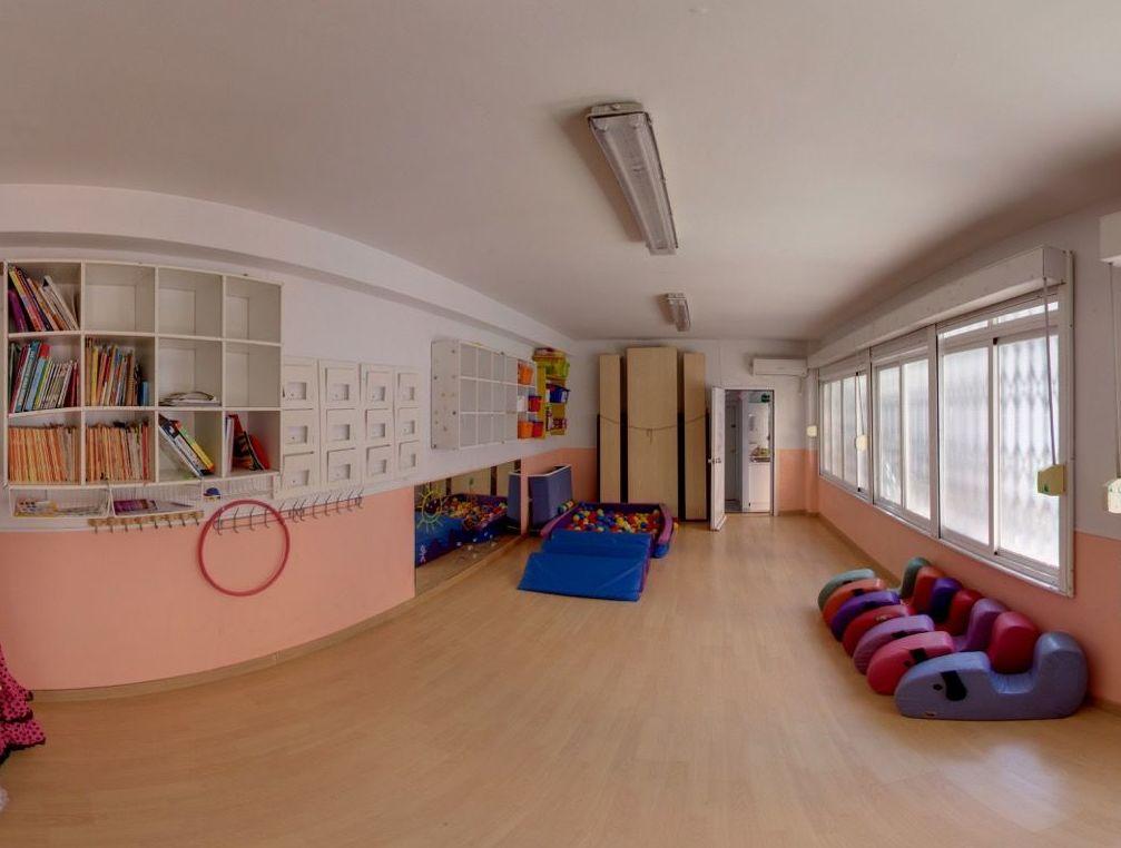 Interior de la escuela infantil
