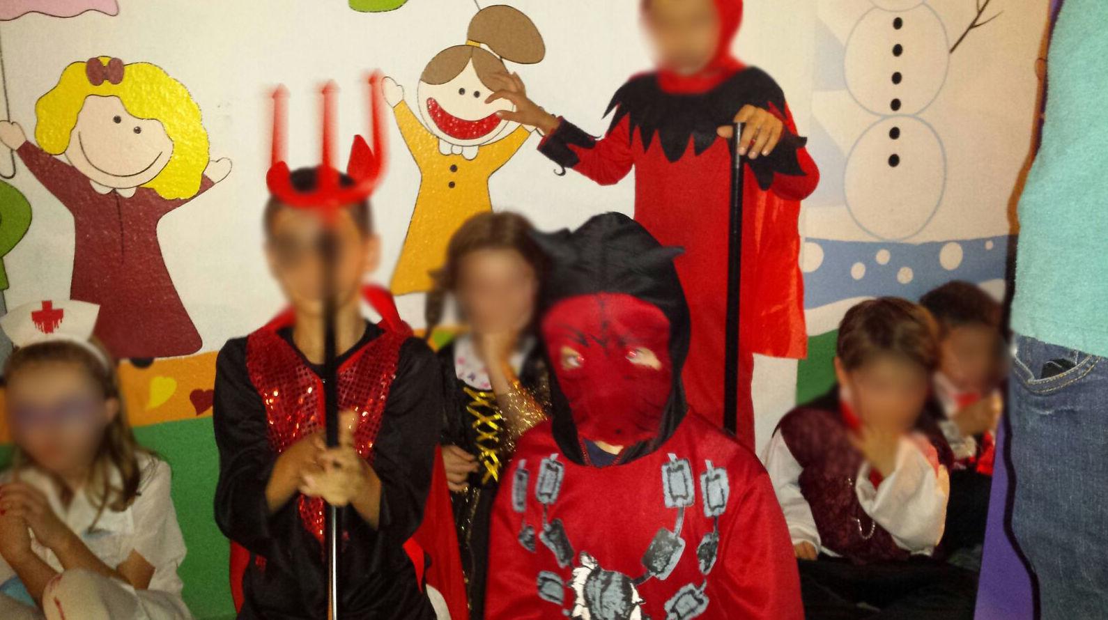 Niños disfrazados para Halloween