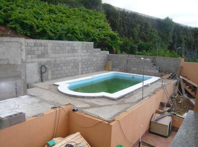Obra para instalación de piscina en vivienda particular en Santa Cruz de Tenerife