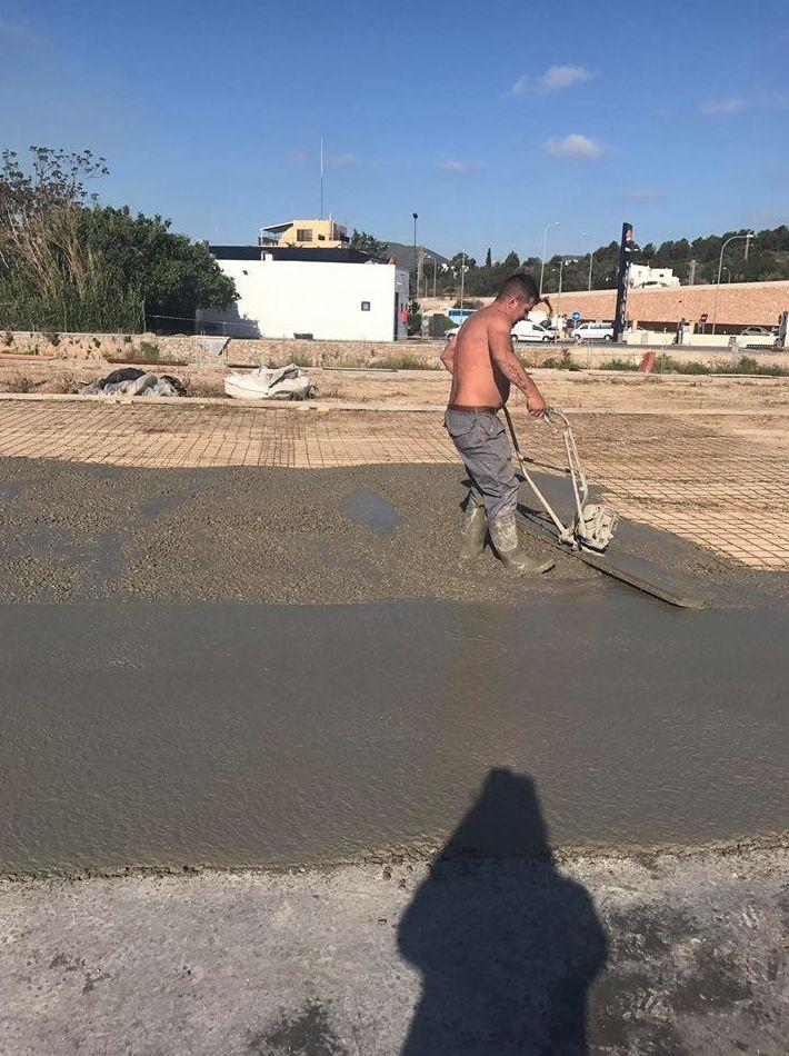Trabajo de hormigón pulido Ibiza 23/24 de Abril