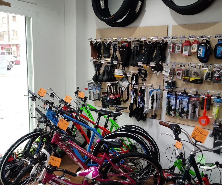 Bicicletas, accesorios y componentes en el centro de Madrid