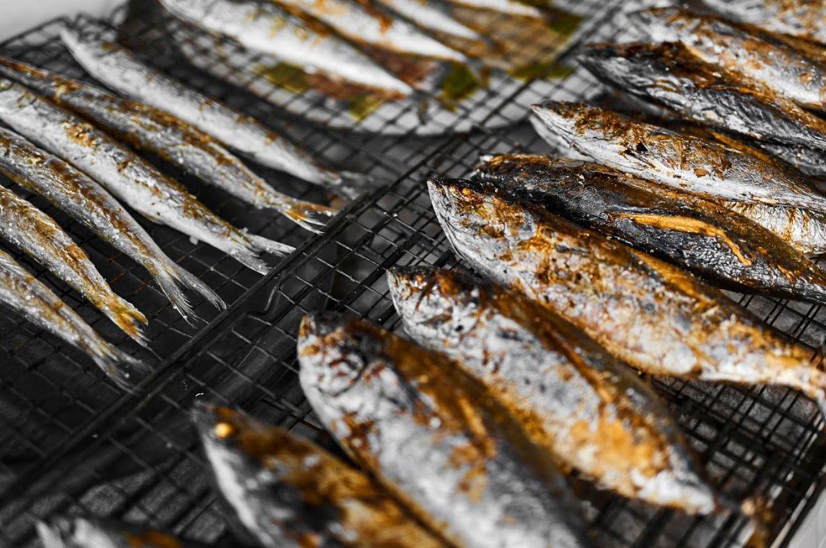 Pescados a la brasa en Fuerteventura
