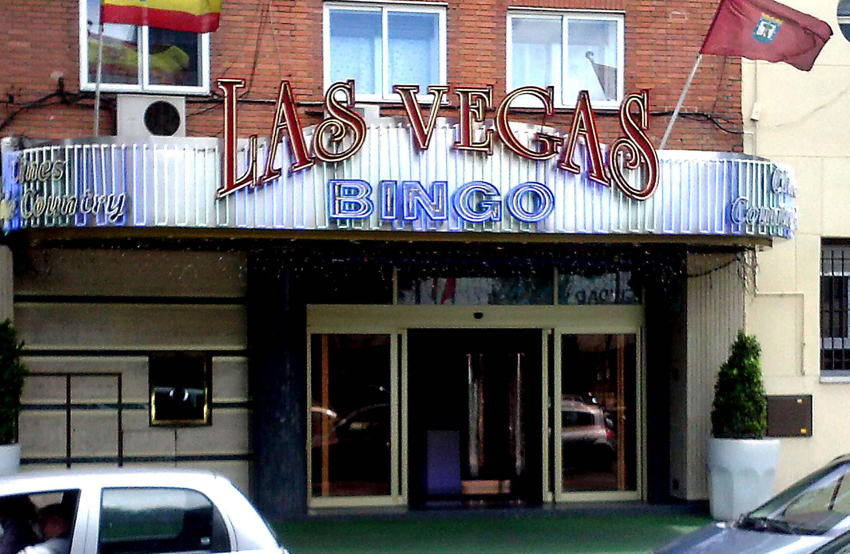 Letras corpóreas y neón para bingo las Vegas