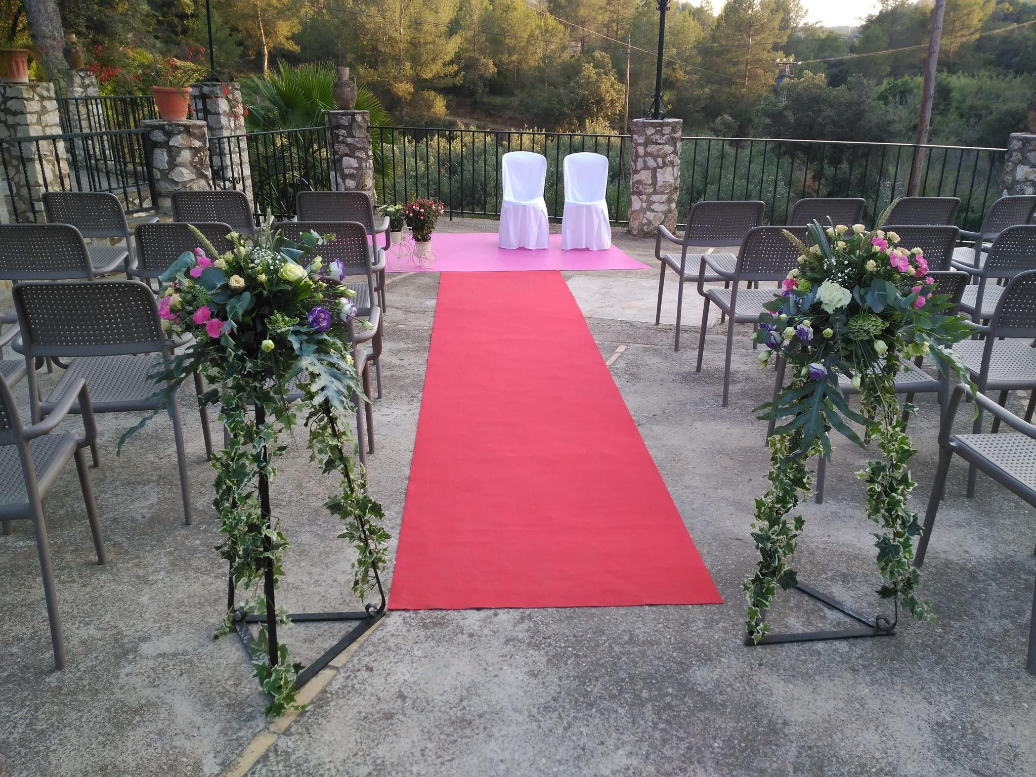 Decoración de espacios para ceremonias