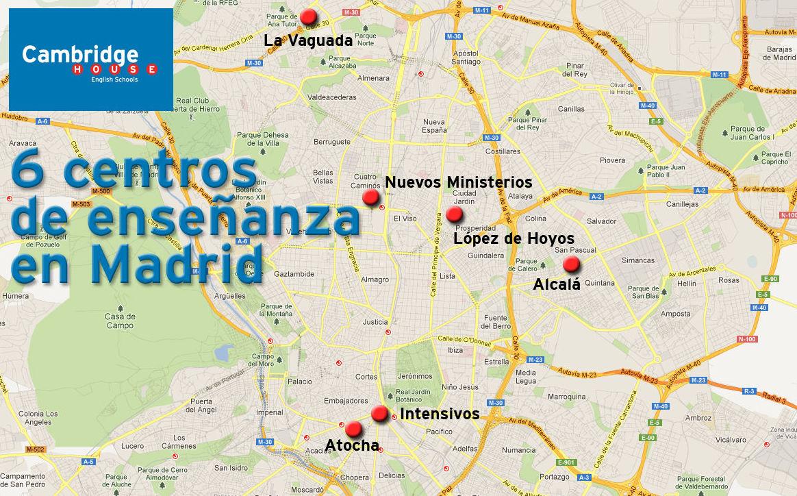 Seis centros en Madrid