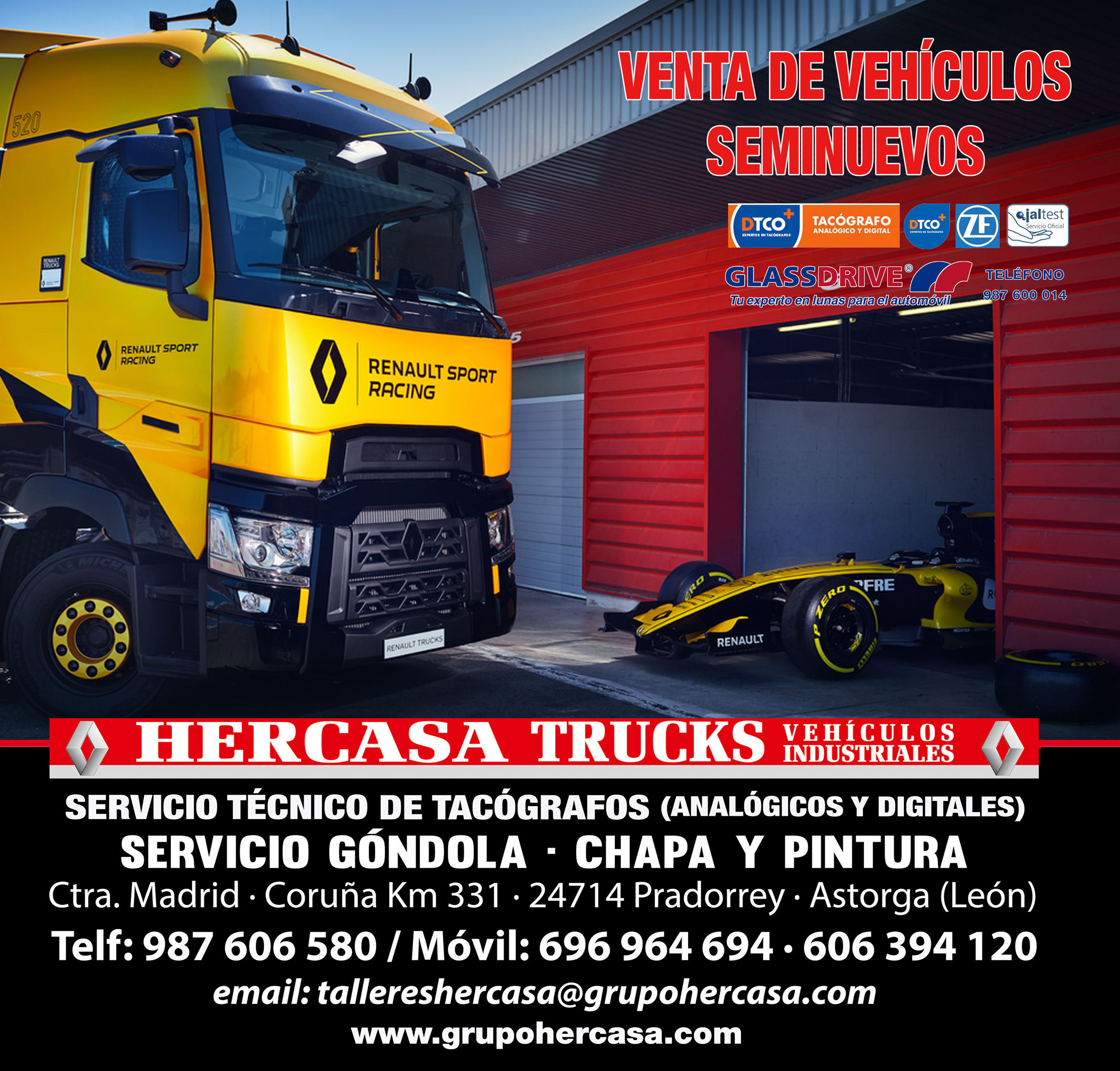 Foto 2 de Taller de automóviles y vehículos industriales en Pradorrey | Grupo Hercasa