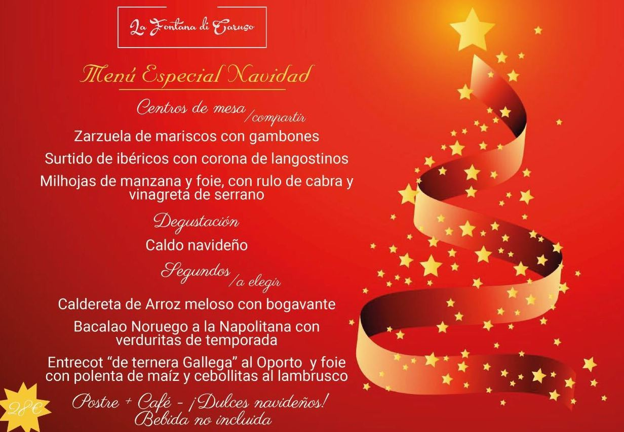 Menú de Navidad: Nuestra Carta de La Fontana Di Caruso