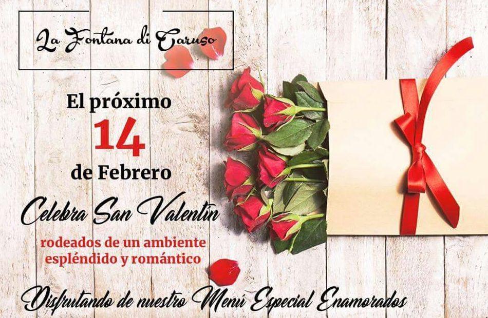 Menú especial San Valentín: Nuestra Carta de La Fontana Di Caruso