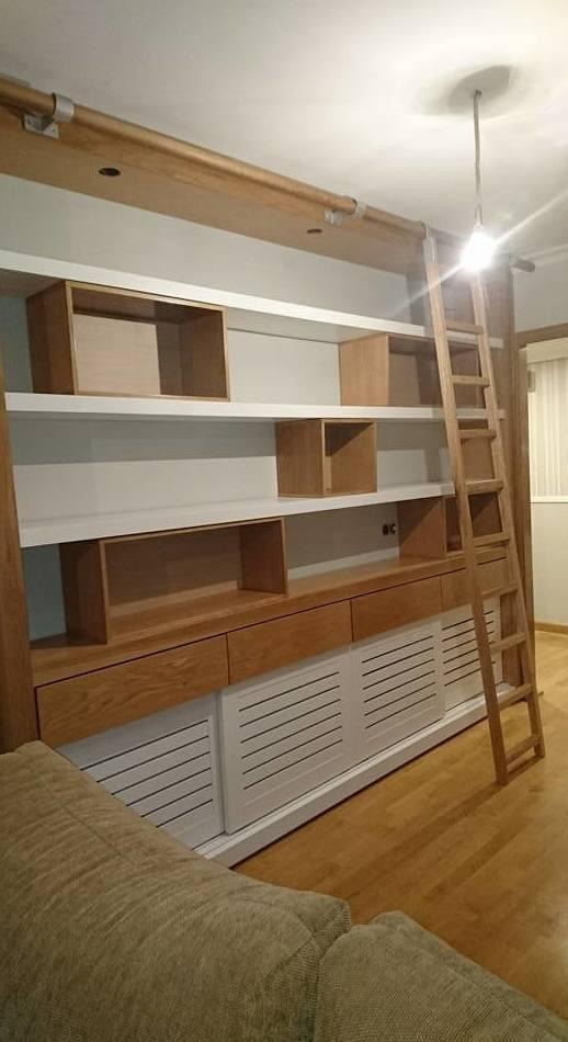 Quieres tu propia libreria ?? MOXIO la fabrica y barniza / laca para ti,con tu propio diseño.