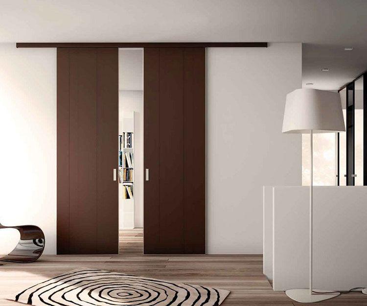Puertas correderas color madera
