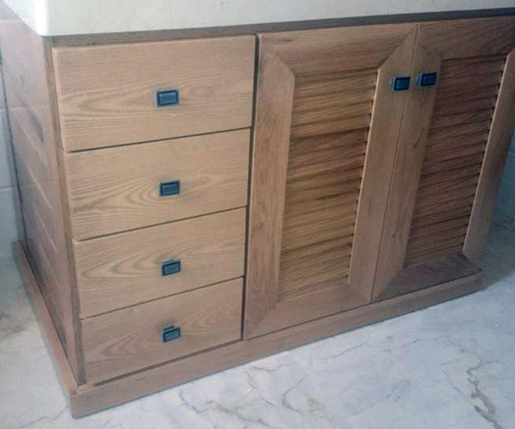 Muebles para baño de madera
