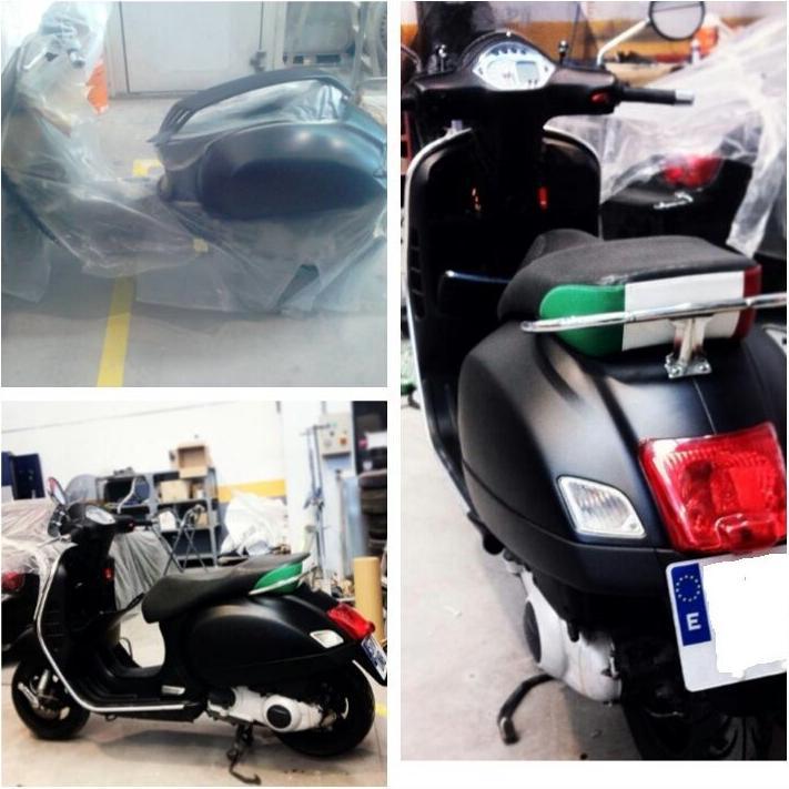 Rep. y cambio de color moto Vespa GTS