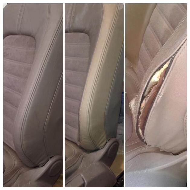 Restauración tapicería respaldo asiento