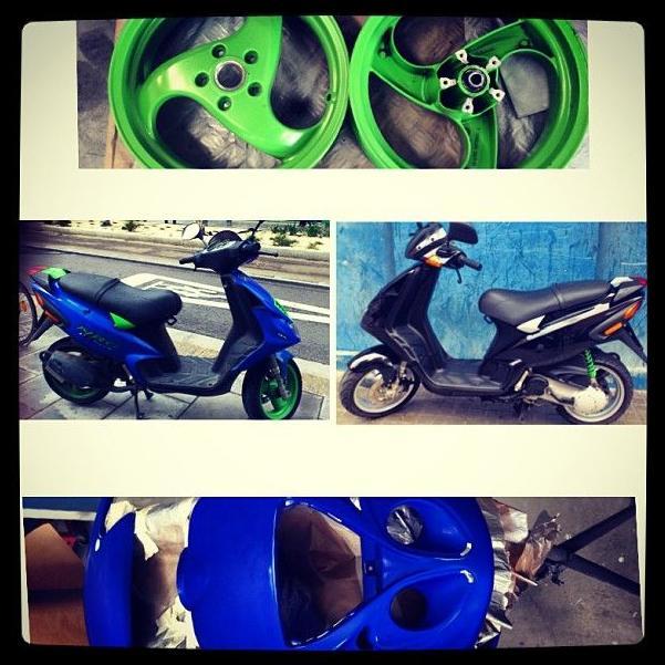 Cambio de color Moto