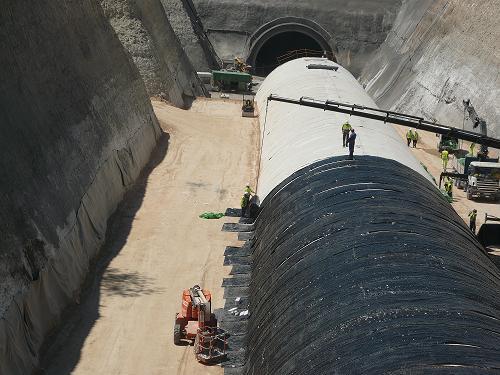 impermeabilizacion superior de tunel con EPDM