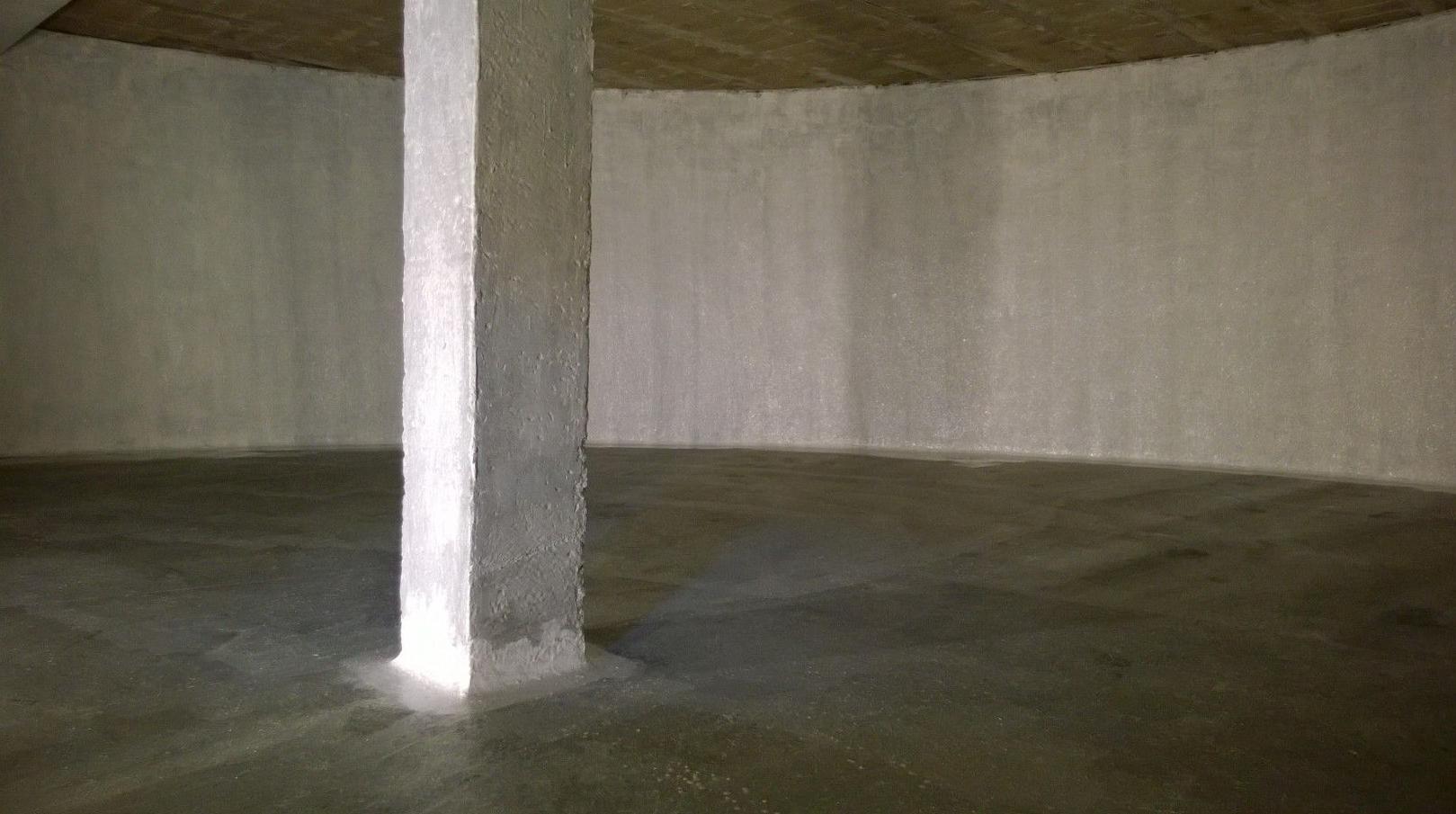 Impermeabilizacion paredes y viga deposito subterraneo.