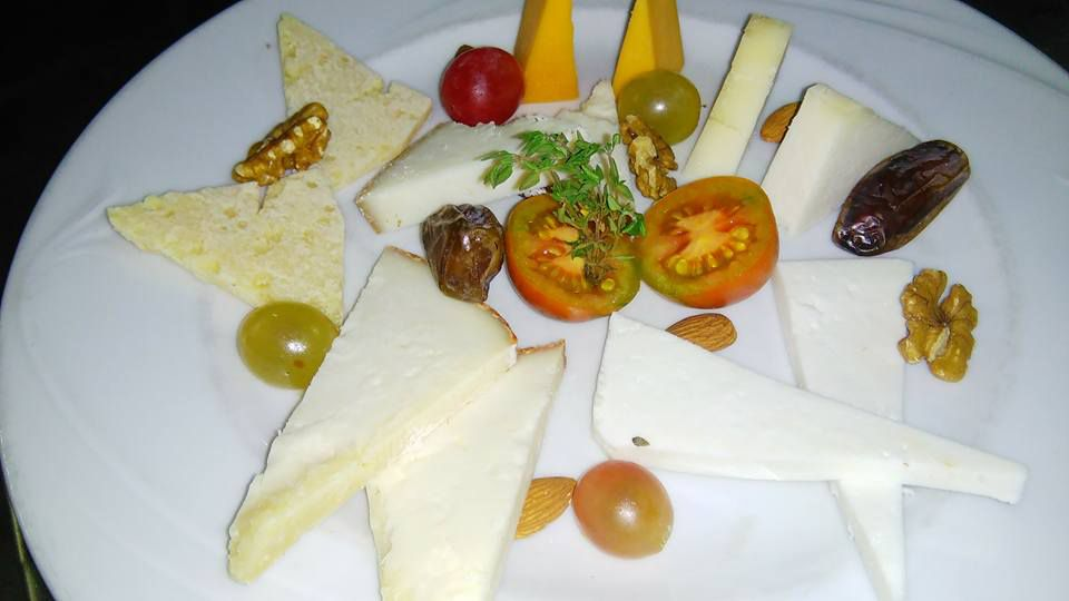 Assortment of the best Canarian cheeses