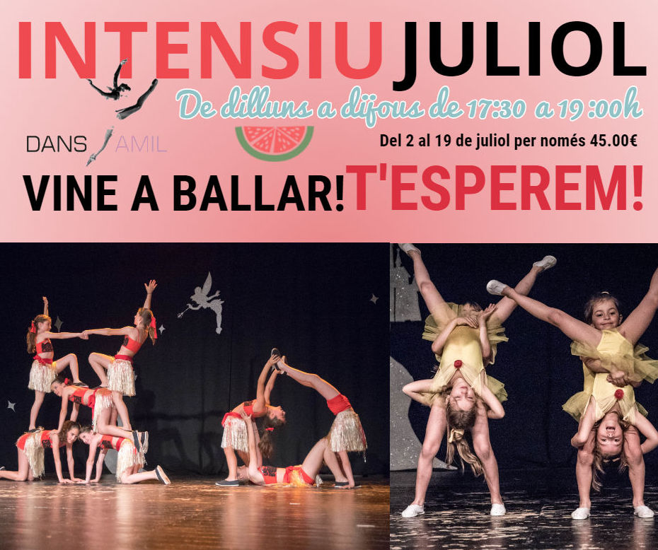 INTENSIVO DANZA MES DE JULIO