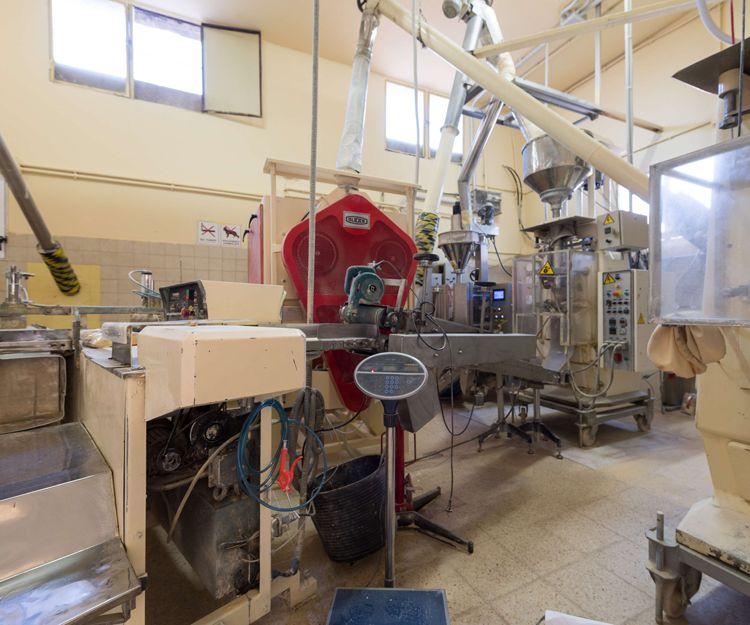 Interior de la empresa de elaboración de gofio
