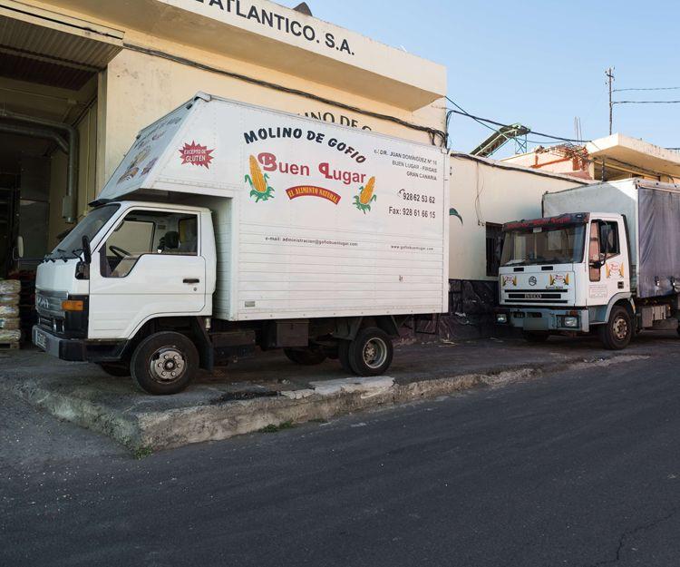 Distribución de gofio en Las Palmas de Gran Canaria