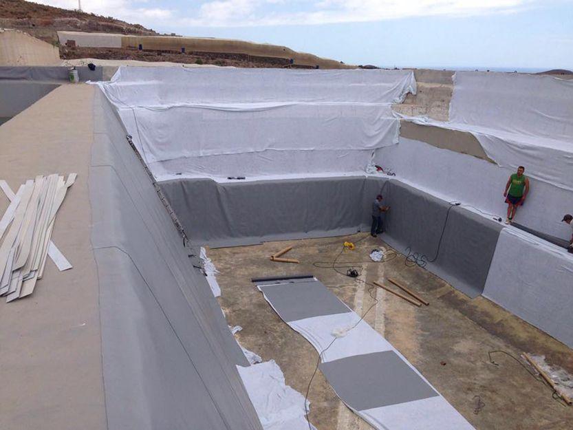 Impermebilizaciones de depósitos de agua en Tenerife