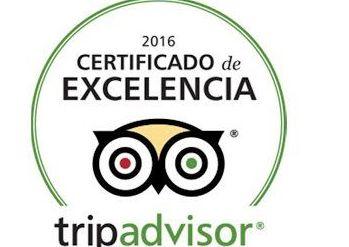 Certificado de excelencia Trip Advisor 2016