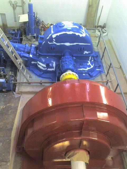 Pintar central hidroelectrica
