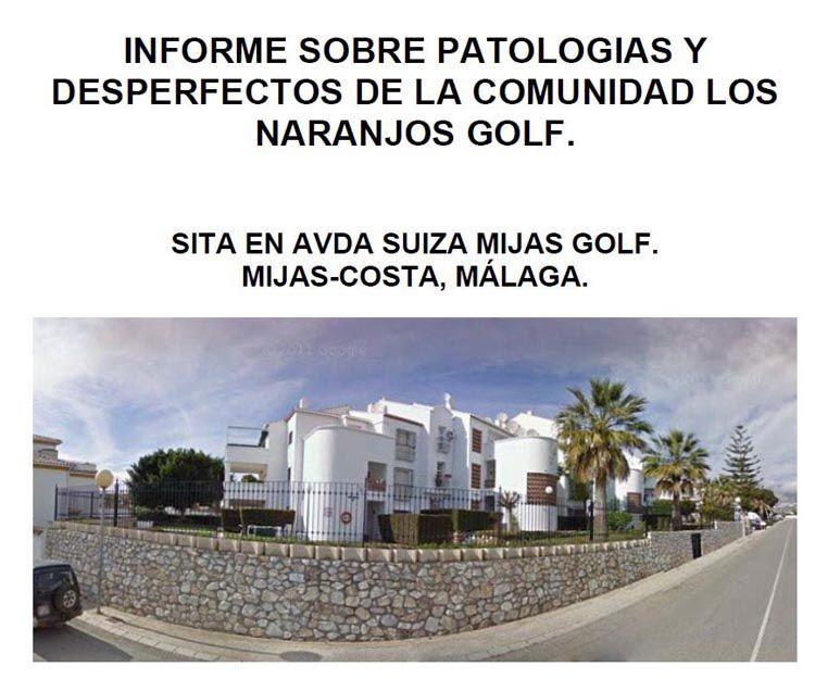 Informe sobre patologías y desperfectos en Fuengirola