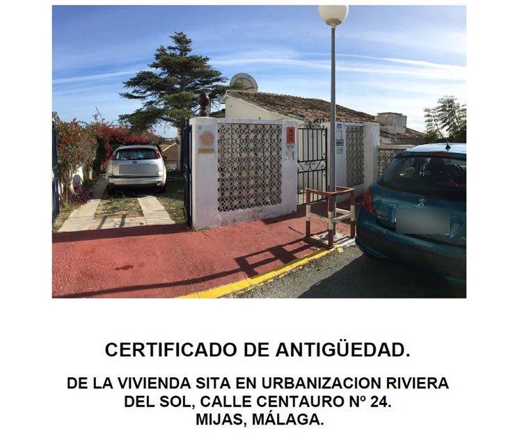 Certificado de antigüedad de edificios en Marbella