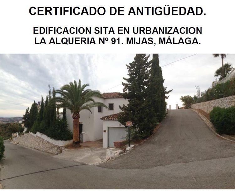 Certificado de antigüedad en edificaciones en Málaga