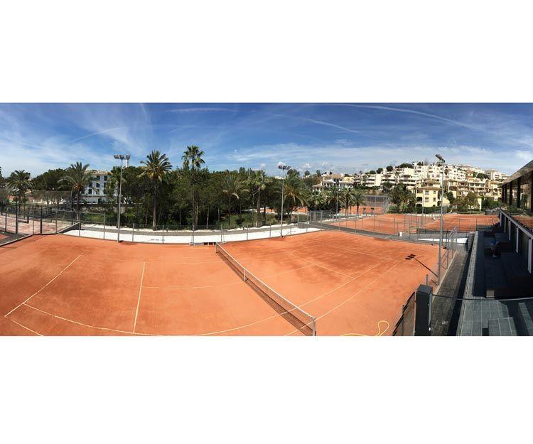 Proyecto arquitectónico de club de tenis en Málaga