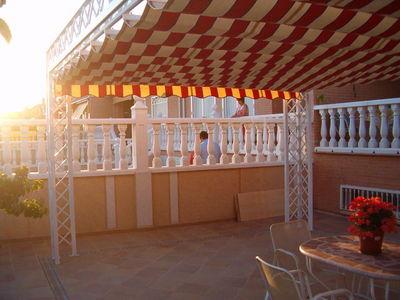 Pergola conn entoldado tipo patio andaluz