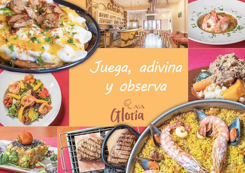 ¡Gana un menú para dos personas en Casa Gloria!