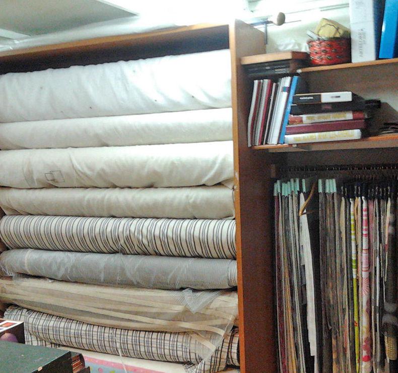 Zona de telas para cortinas  y textil del hogar