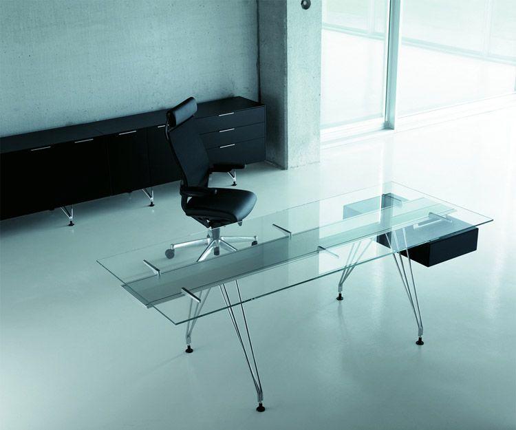 Mesa de despacho modelo BK A1 de cristal