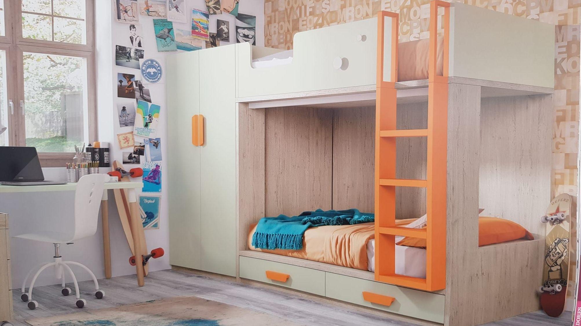 habitaciones juveniles en Hospitalet de llobregat con 2 camas