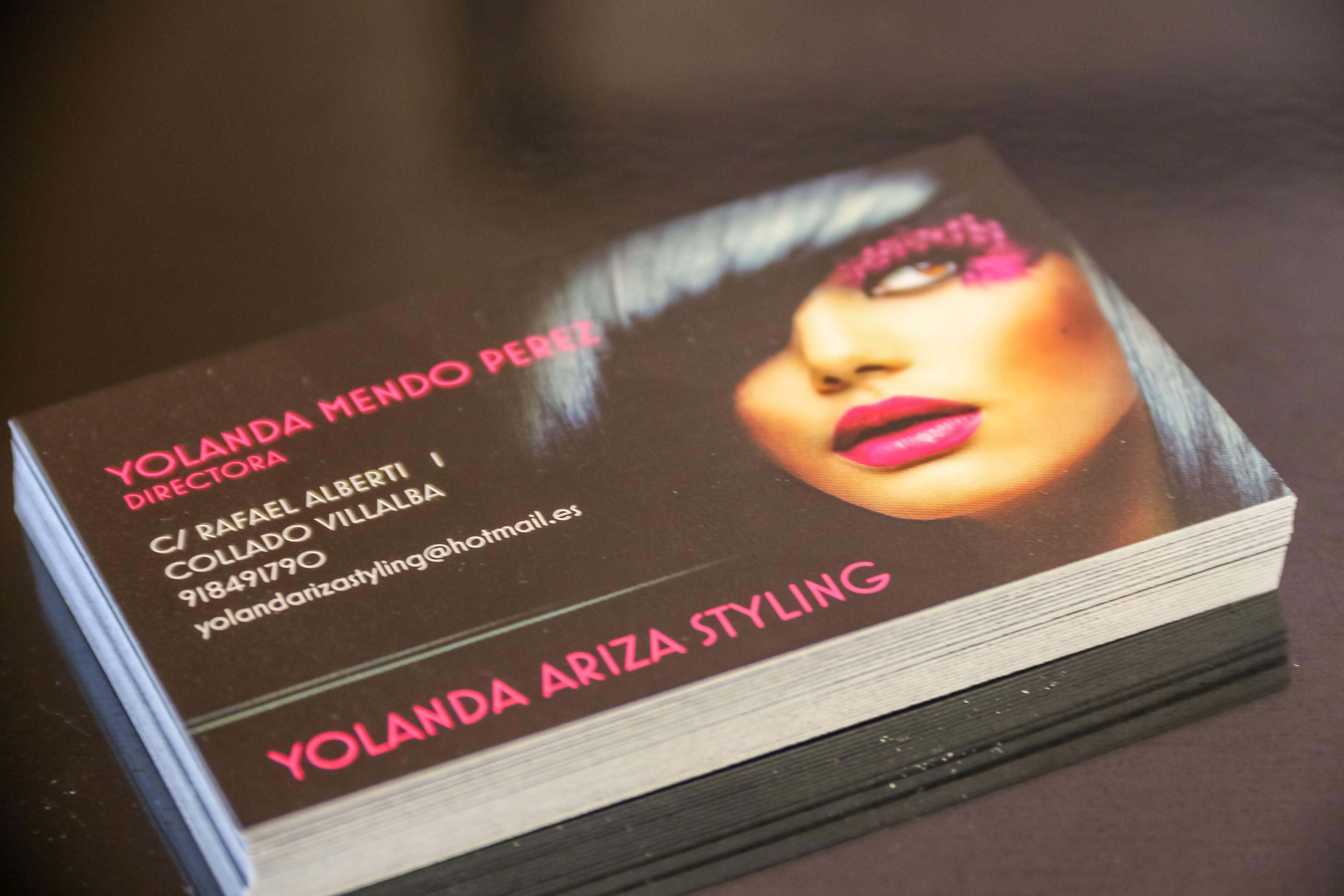Tarjetas de visita YOLANDA ARIZA STYLING