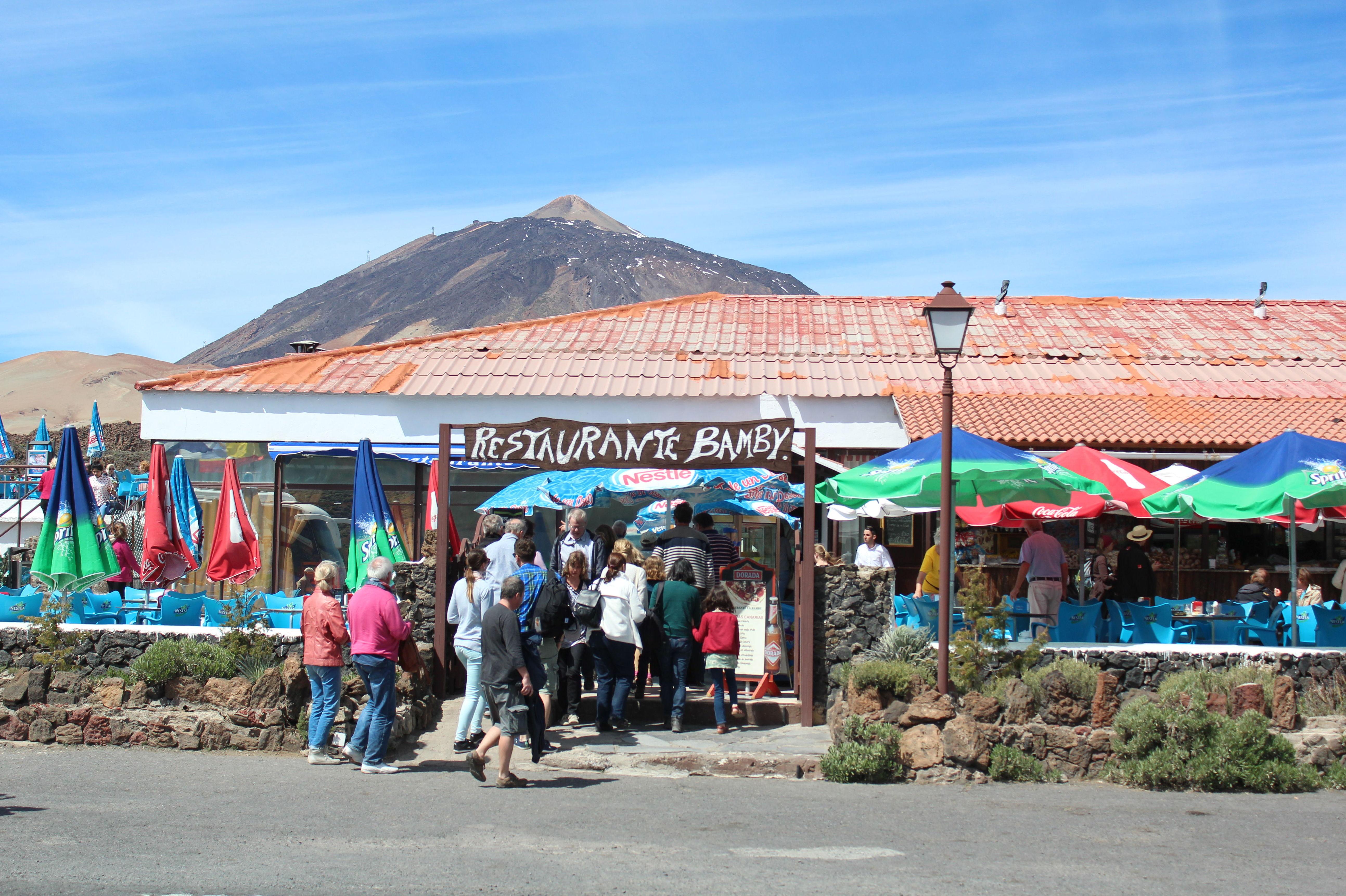 Restaurante típico canario en el Parque Nacional del Teide