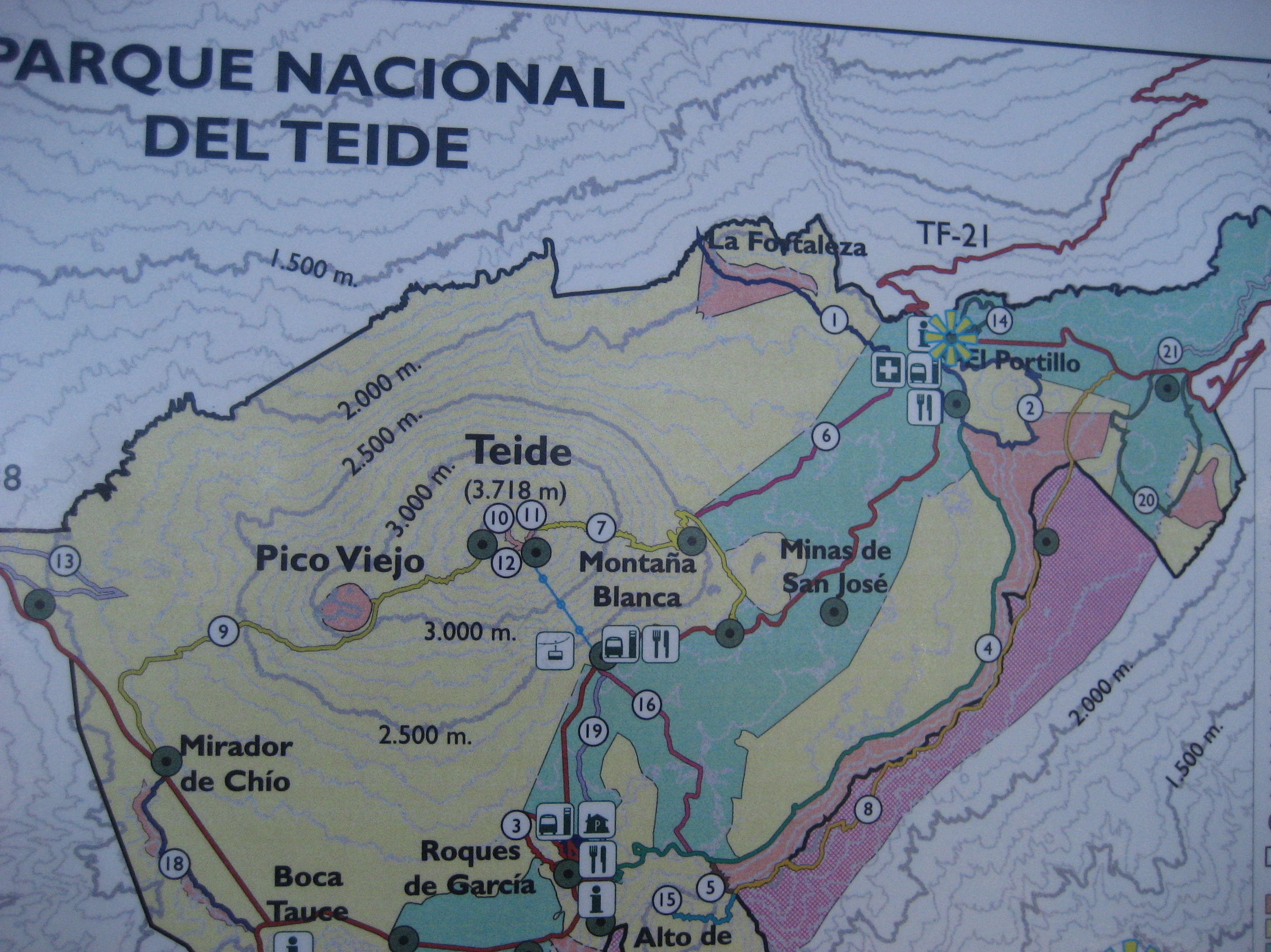Plano del Parque Nacional del Teide