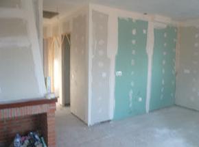 Construcción de salón de vivienda