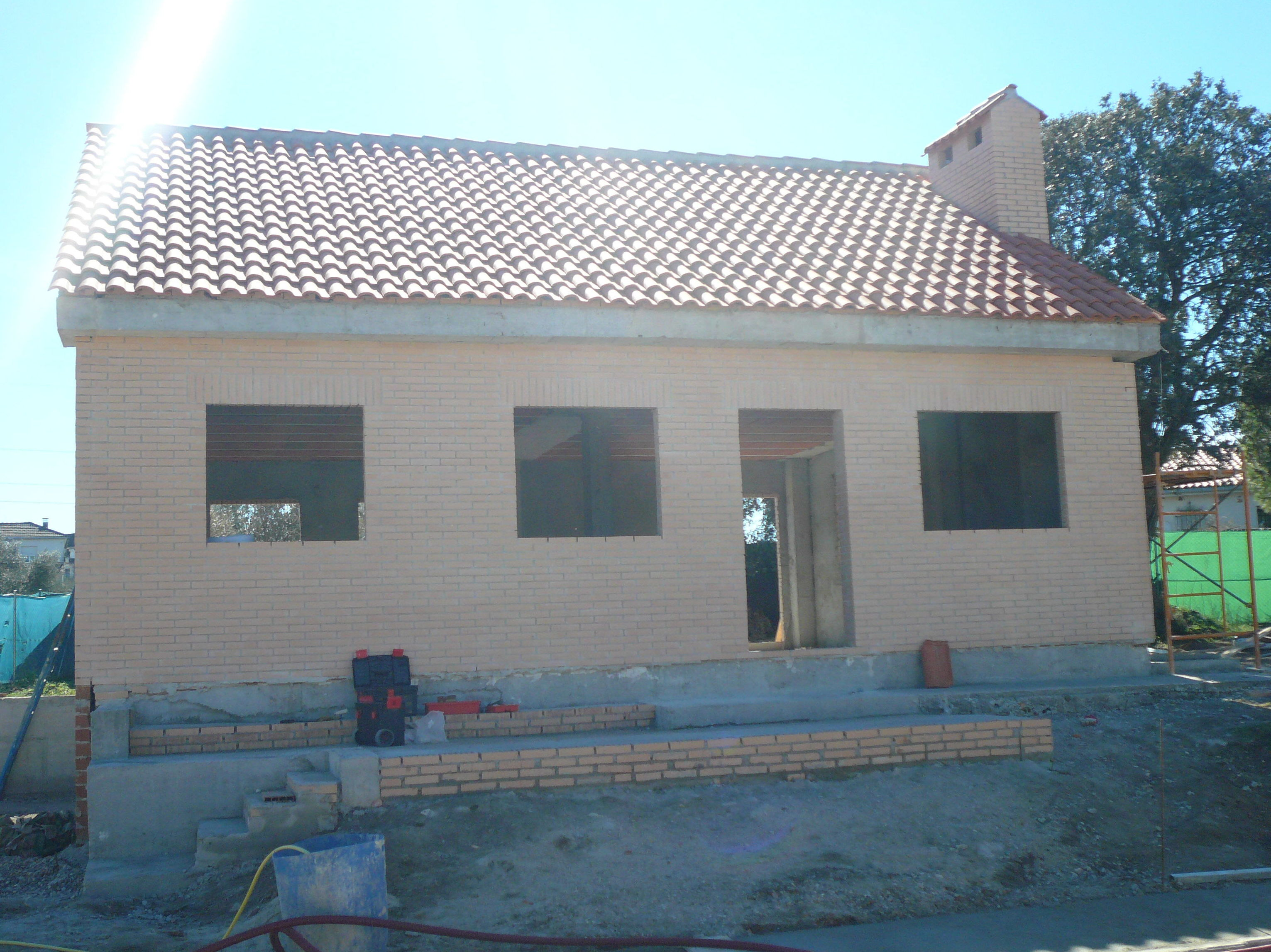 construcción de vivienda de 80 m2.