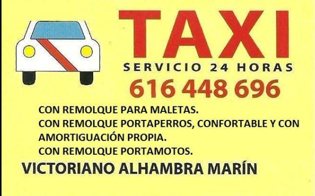 Reserva previa: Servicios de Victoriano Alhambra Taxi