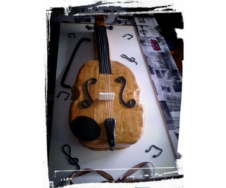 Tarta para amante de violín