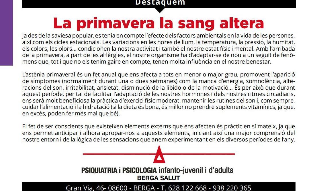 Artículo propio publicado en revista Pànxing Berguedà
