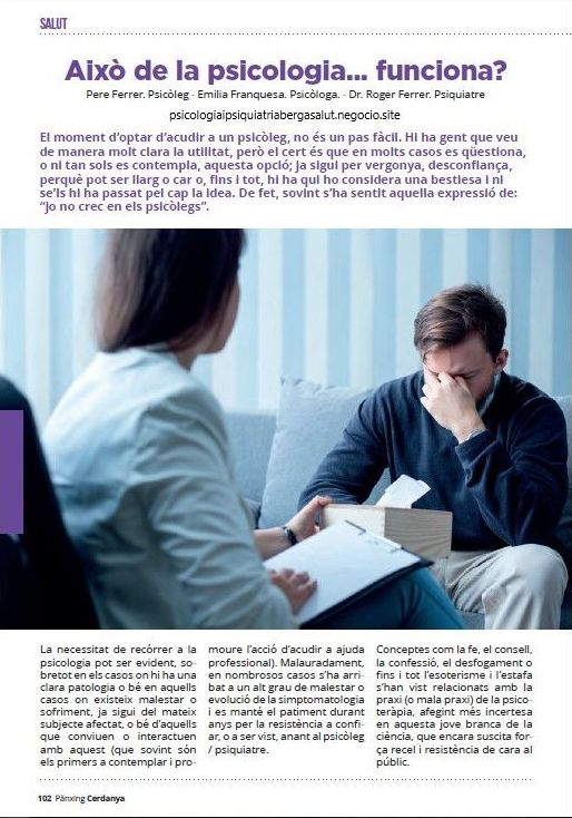 Artículo propio publicado en la revista Pànxing Cerdanya