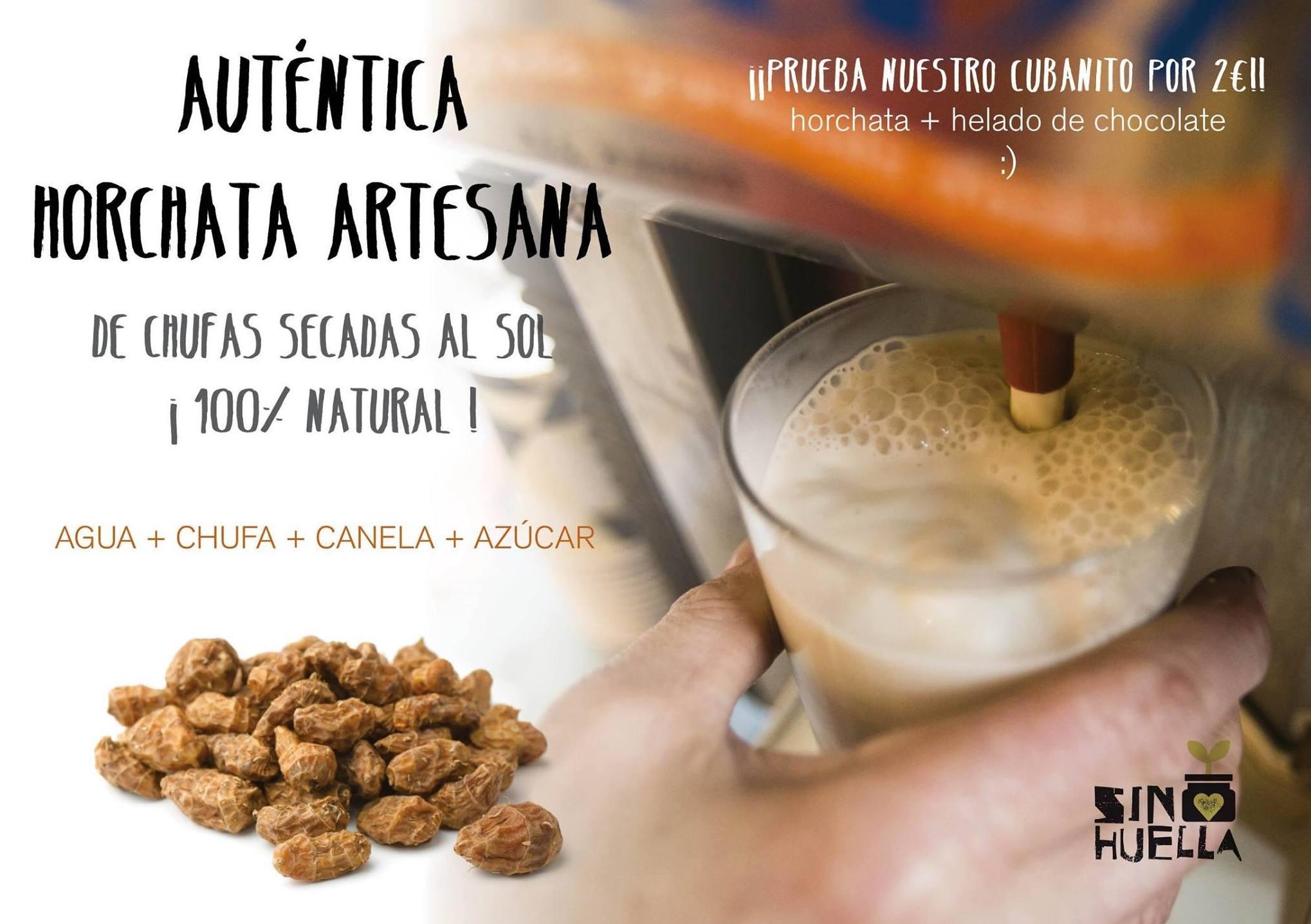 Horchata 100% natural : Productos de Sin Huella
