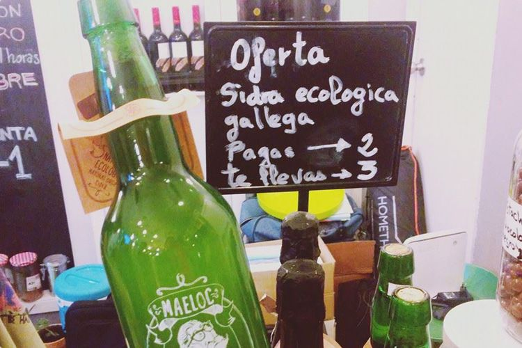 Sidra ecológica gallega en Zaragoza