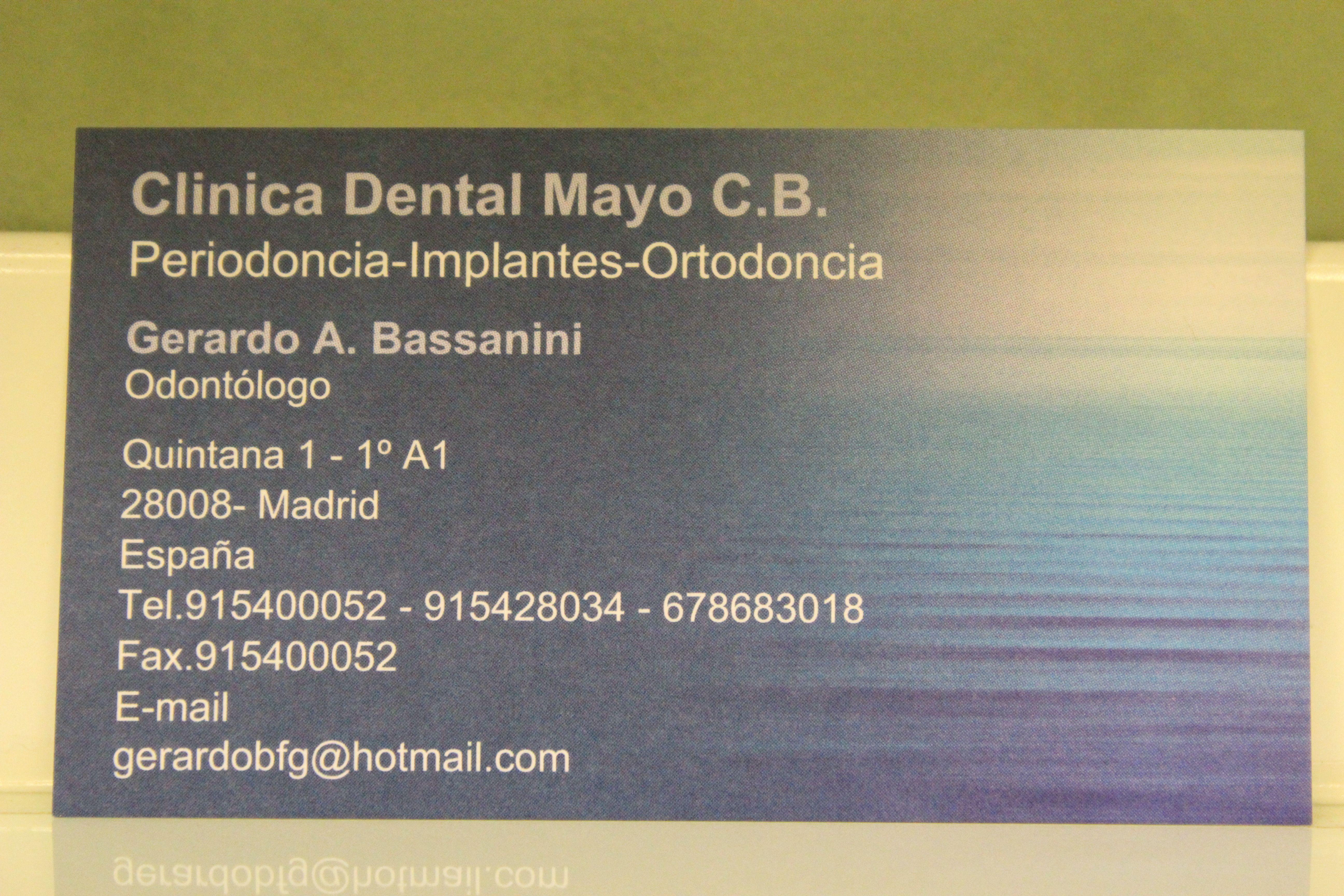 Foto 3 de Dentistas en Madrid | Clínica Dental Dr. Bassanini